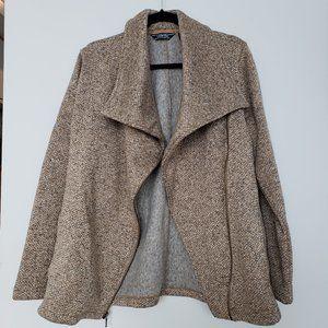 Land's End Textured Knit Asymmetrical Jacket